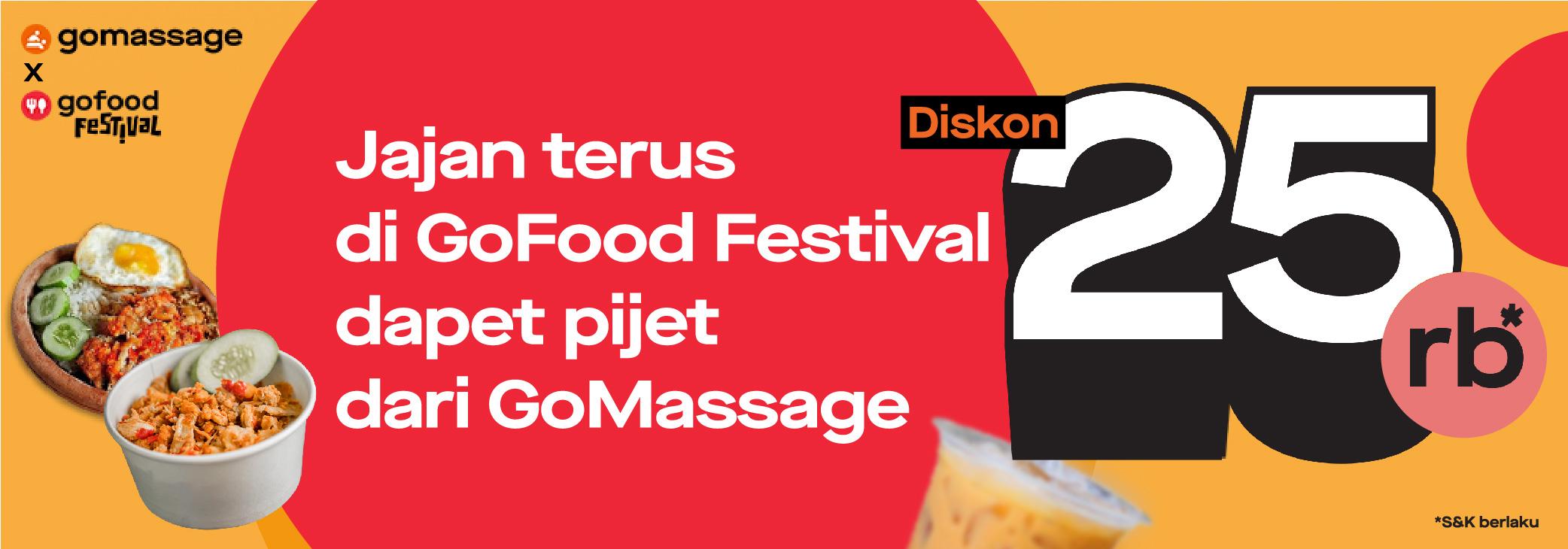 Misi Seru GoFood Festival : Dapatkan Voucher GoMassage senilai Rp25.000