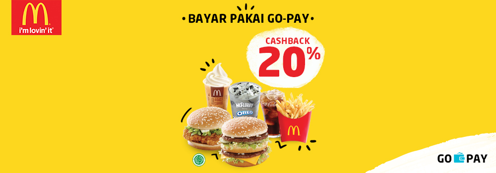 Promo McDonald's Februari 2019: Cashback 20% All Menu