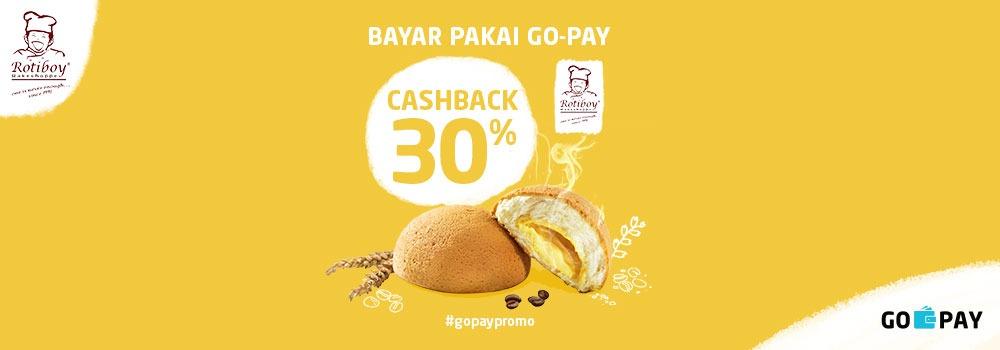 Promo Rotiboy April 2019: Cashback 20% semua pengguna dan Cashback 40% pengguna baru!