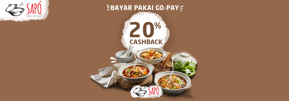Promo Sapo Oriental Desember 2018: Cashback 20%