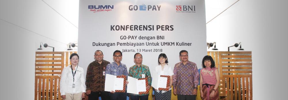 GO-PAY dan BNI Dukung Pengembangan UMKM Melalui Penyaluran KUR untuk Mitra GO-FOOD