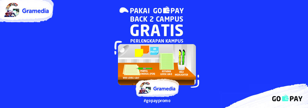 Promo Back to School 2018 Gramedia GO-PAY: Gratis Produk!