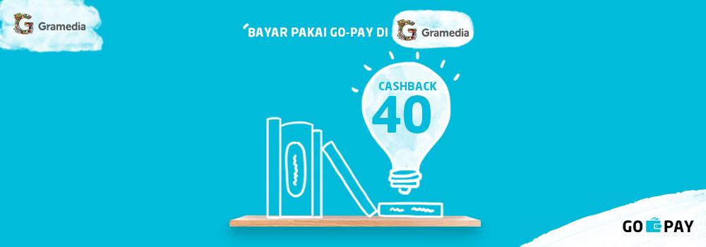 Promo Gramedia November 2018: Cashback 40% Setiap Hari!
