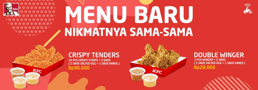 Promo KFC 17 Agustus 2018: Menu Baru Crispy Tenders & Double Winger