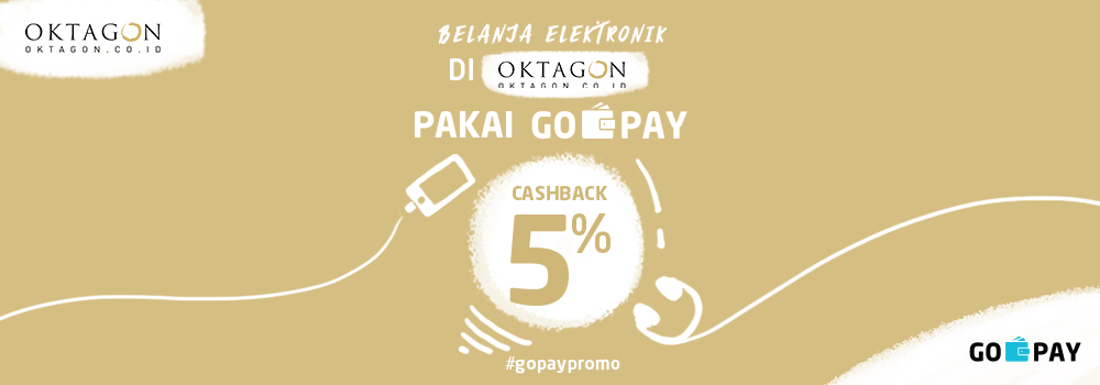 Promo Oktagon September 2018: Cashback 5% Beli Kamera & Elektronik