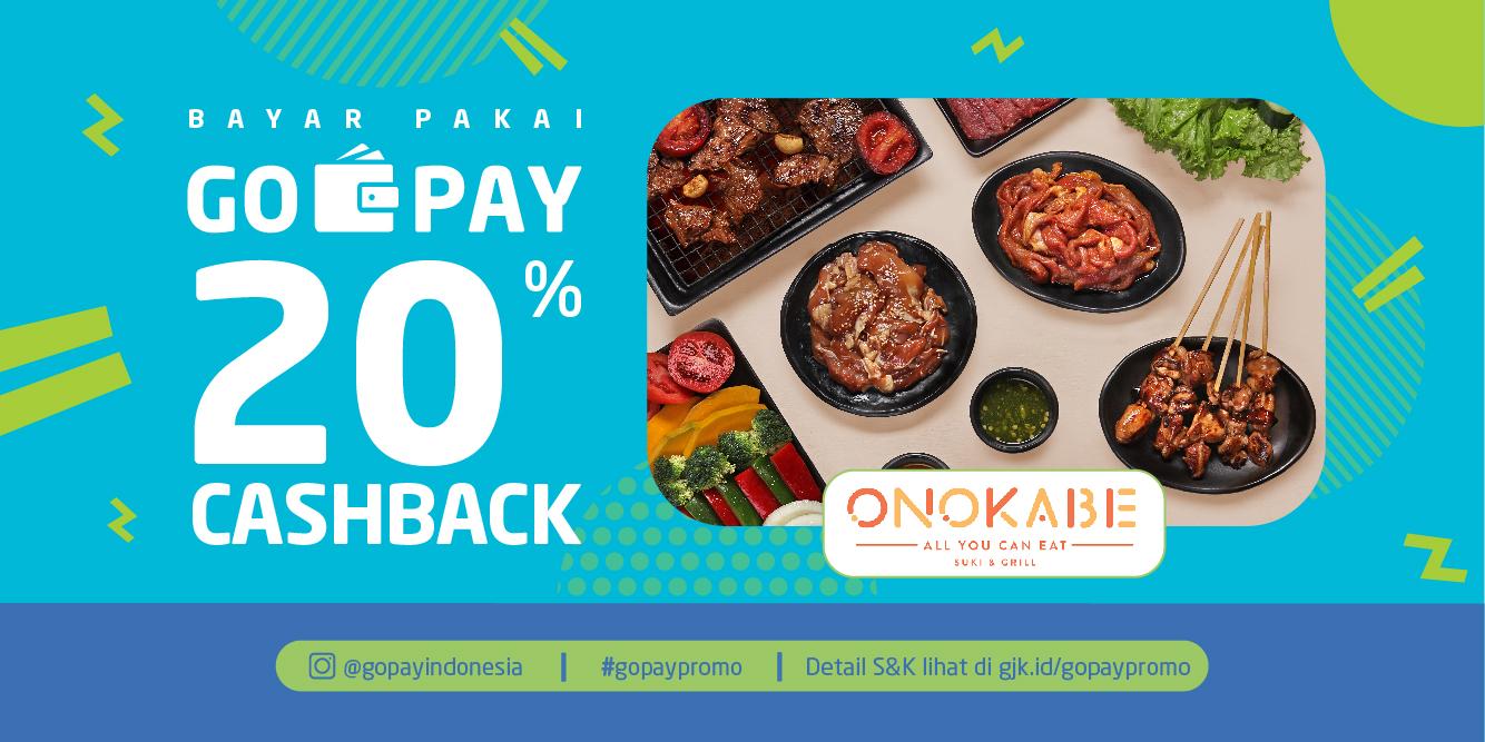 Promo Onokabe Maret 2019: Cashback 20%!