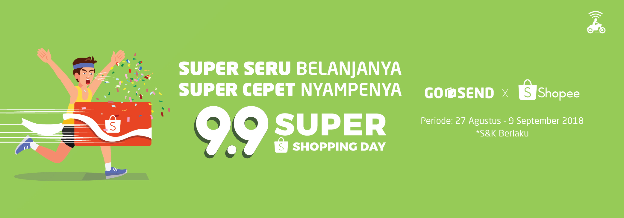 Super Shopping Day Shopee: Diskon GO-SEND Rp15.000