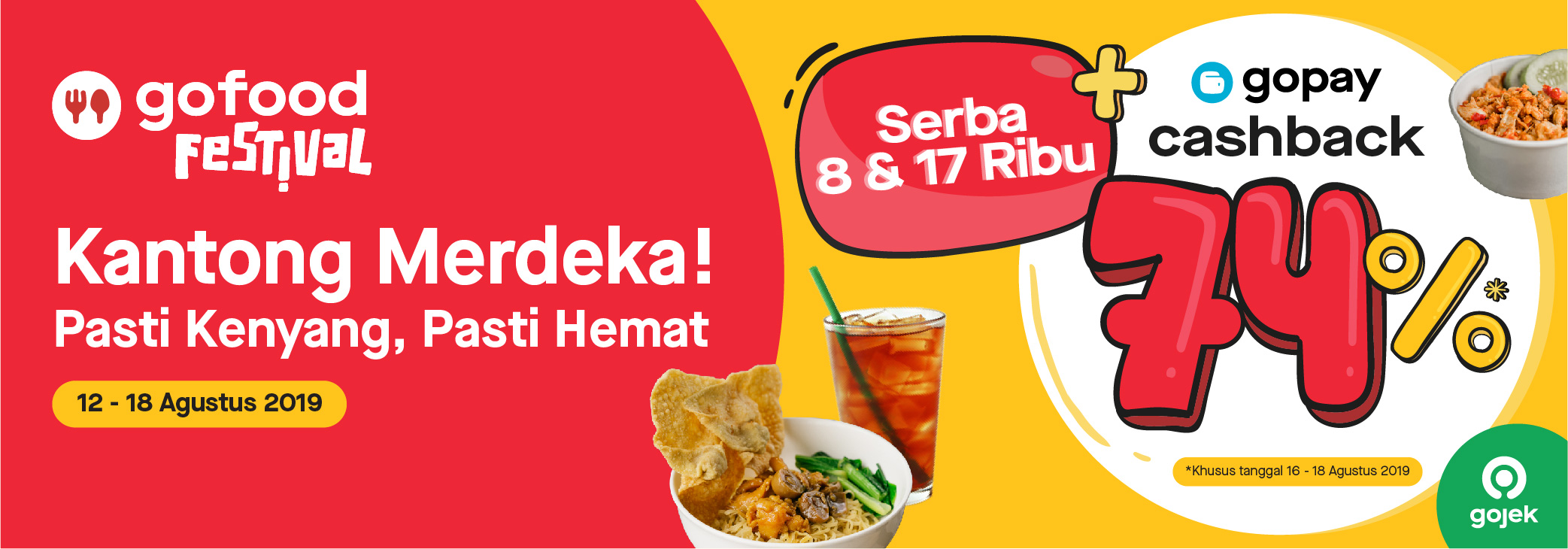 Promo GoFood Festival Agustus 2019: Menu Serba 8 & 17 Ribu di GoFood Festival