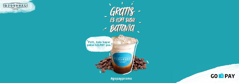 Promo Djournal Coffee Desember 2018: Gratis Hot/Ice Kopi Susu Batavia