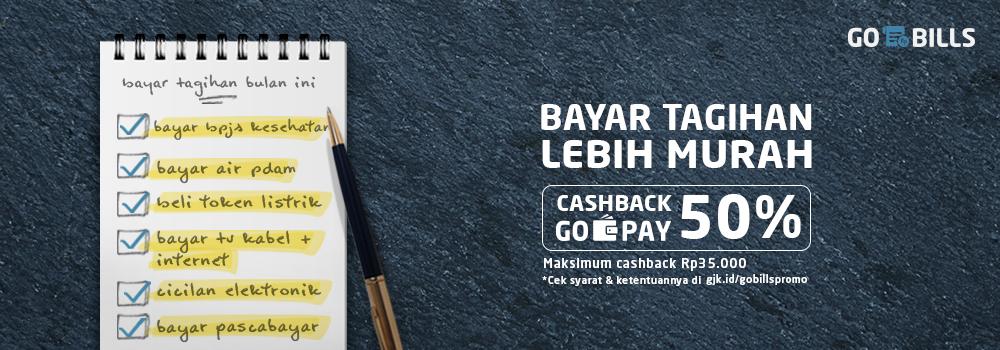 Bayar Tagihan Lebih Hemat Hingga Rp150.000 Kalau Bayar Pakai GO-PAY