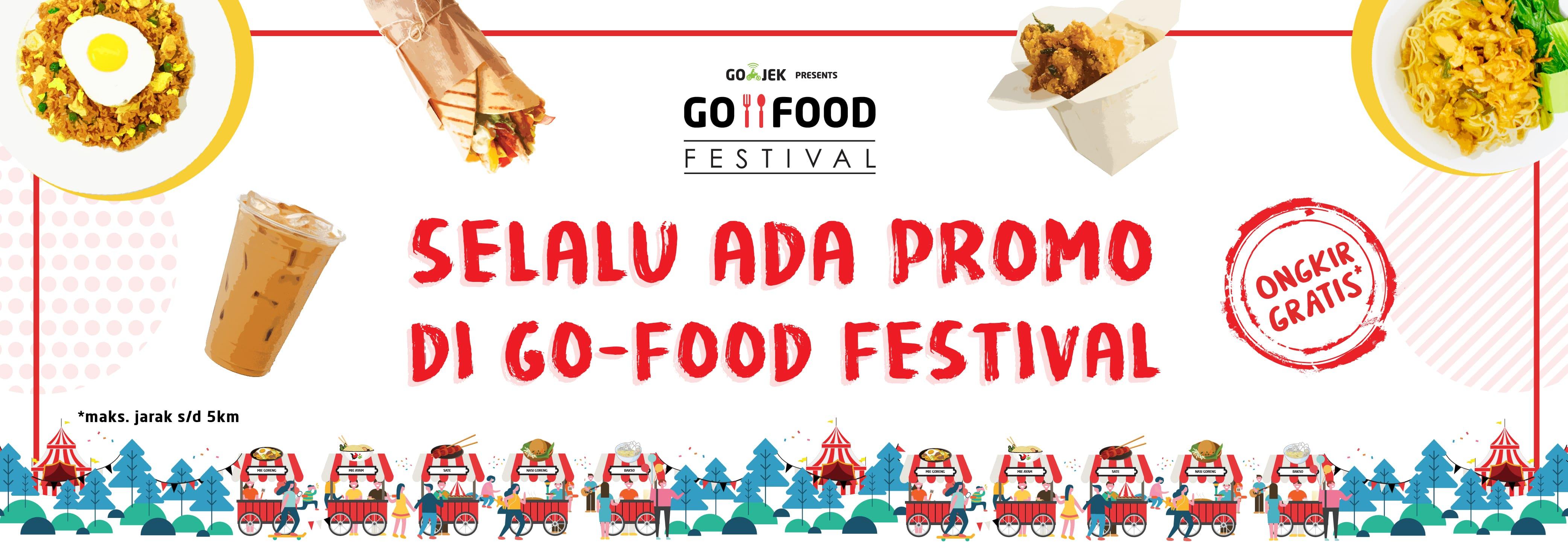 Promo GO-FOOD Festival Januari 2019: Cashback & Gratis Ongkir!