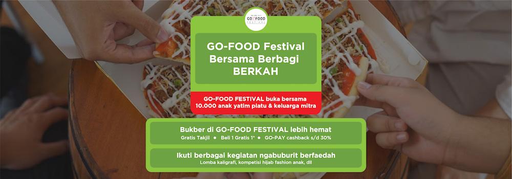 Promo GO-FOOD Festival Ramadhan 2019: Beli 1 Gratis 1