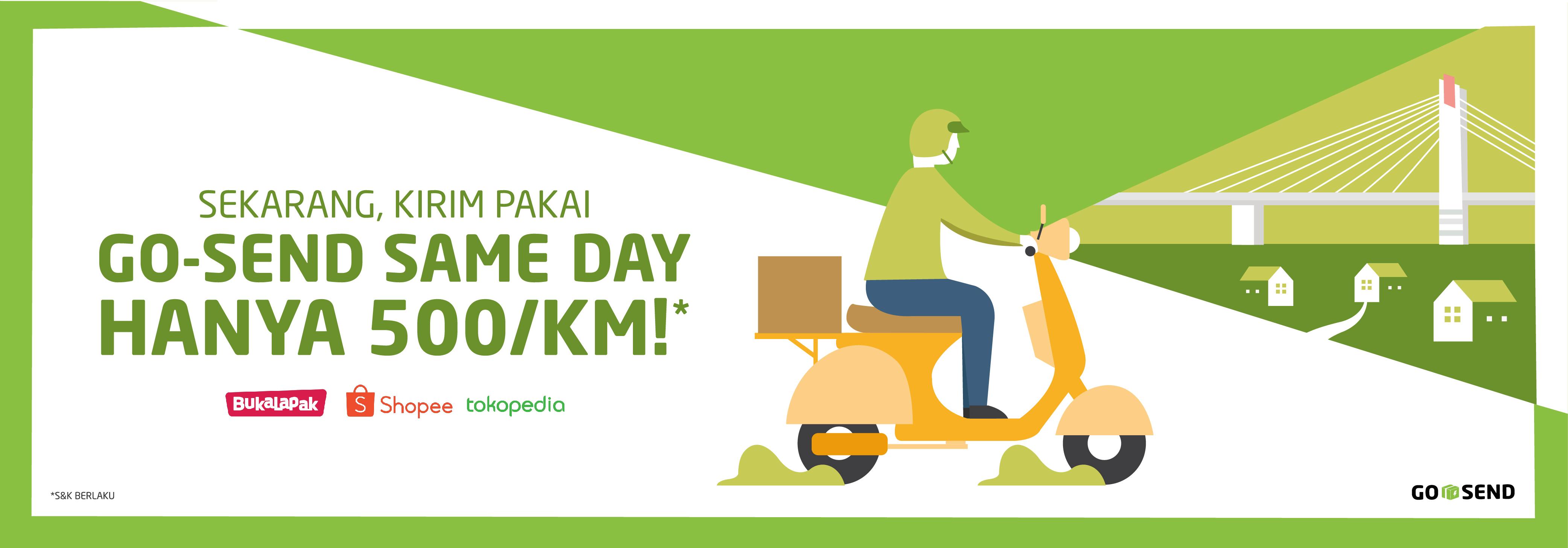 Promo GO-SEND: GO-SEND Same Day Bandung Hanya Rp7.000*