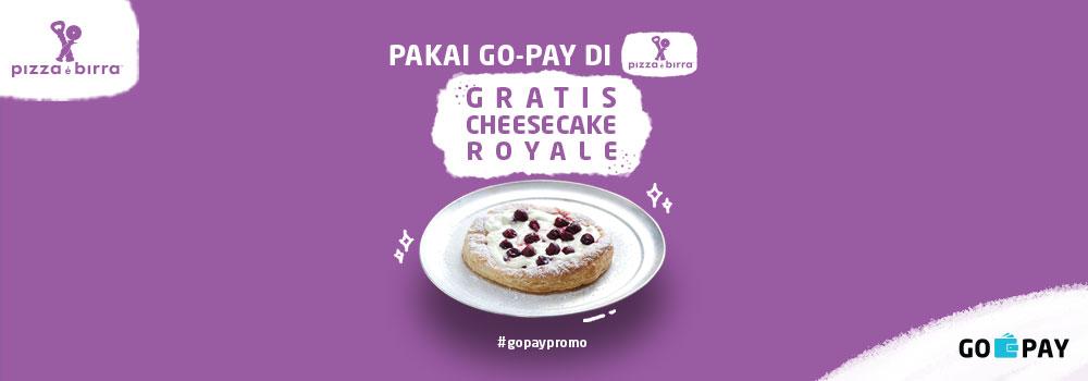 Promo Pizza e Birra Desember 2018: Gratis Cheesecake Royale