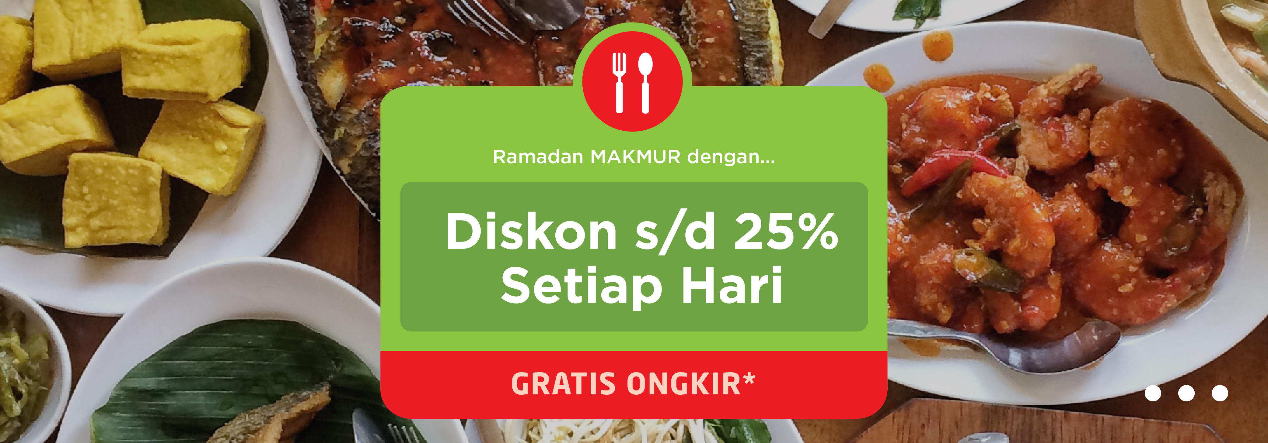 Promo Ramadhan GO-FOOD : Diskon Hingga 25% & Gratis Ongkir