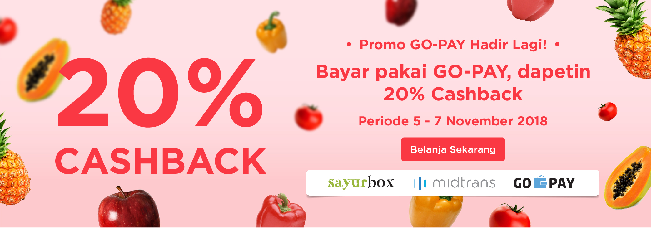 Promo Sayurbox November 2018: Cashback 20%