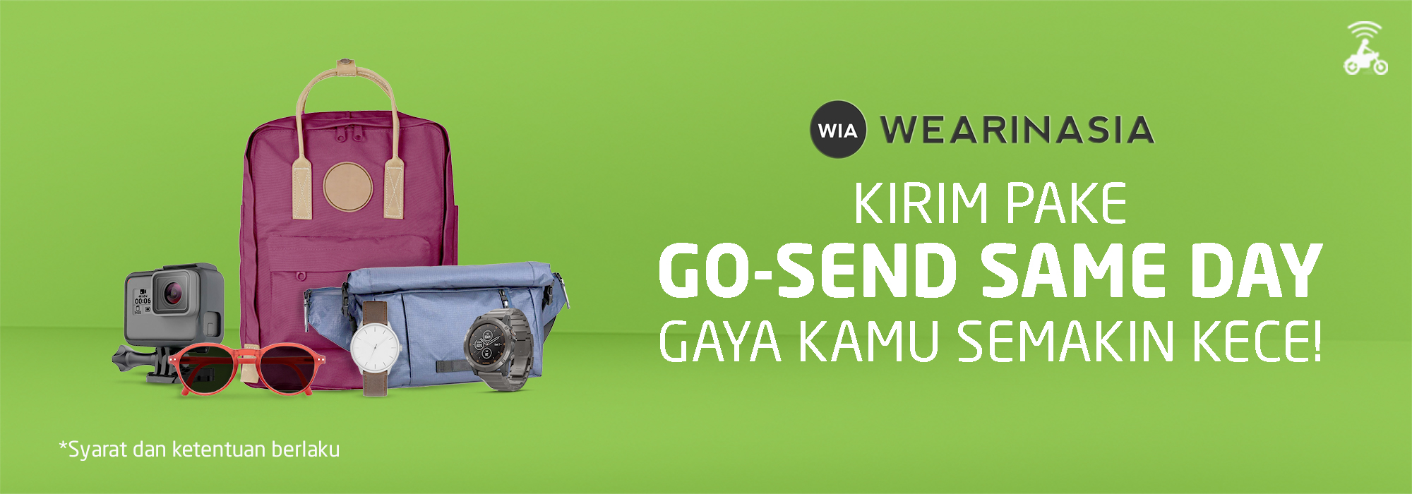Promo GO-SEND di WEARINASIA, Gratis Ongkir Same Day Delivery!
