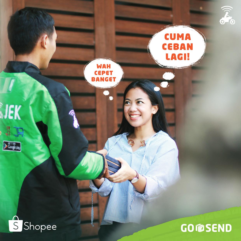 Belanja di Shopee, Ongkir GO-SEND Cuman Ceban