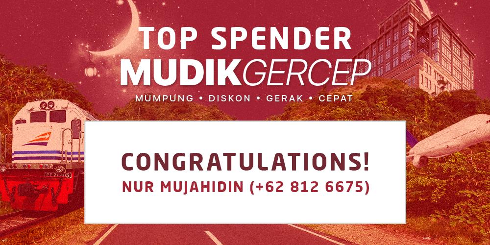 Selamat Kepada Pemenang Top Spender Program Mudik Gercep